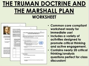 Truman Doctrine & the Marshall Plan - Cold War - Global/US