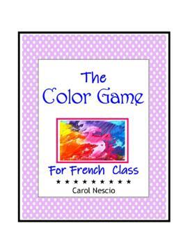 The Color * Game For French Class