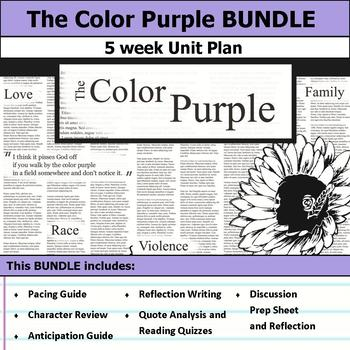 The Color Purple Unit Bundle