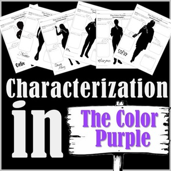 The Color Purple- Character Analysis Packet!