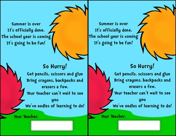 The Colors of Dr. S Back To School Postcard FREEBIE!