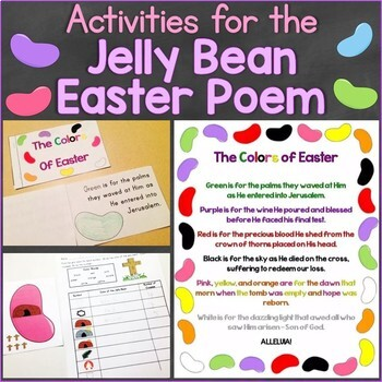 The Colors of Easter Jelly Bean Poem Christian Activities,