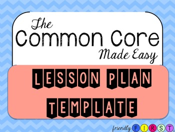 Common Core Daily Teacher Planner Template (EDITABLE)