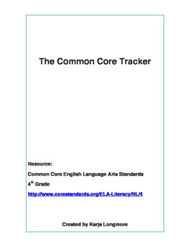 The Common Core Tracker 4th Grade ELA