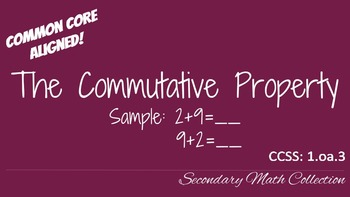 The Commutative Property of Addition CCSS 1.oa.3