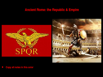 The Complete Ancient Rome, Republic and Empire Power Point Unit