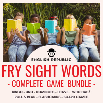 Fry Sight Words Super Game Pack - Bingo, Dominoes, Board G
