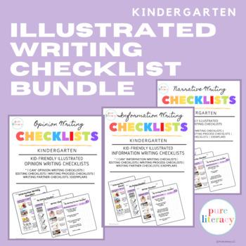 The Complete Kindergarten Writing Illustrated Checklists Bundle