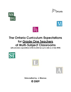 The Complete Ontario Curriculum for Grade One Teachers