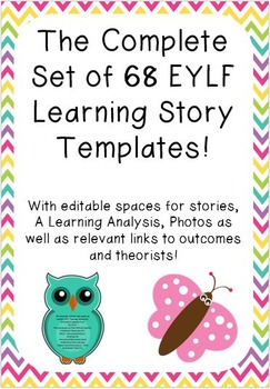 The Complete Set of 68 Learning Story Templates!