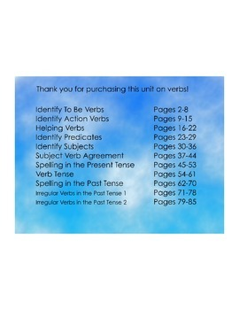 The Complete Unit on Teaching Verbs