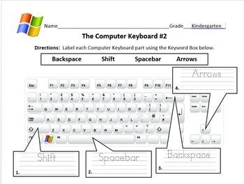 The Computer Keyboard ( Practice Writing )