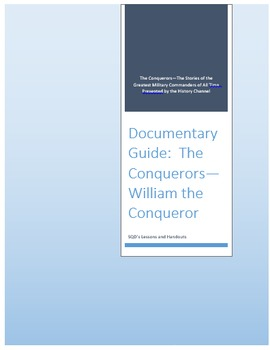 Documentary Guide--The Conquerors, Episode 1:  William the