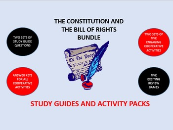 The Constitution and the Bill of Rights Bundle: Study Guid