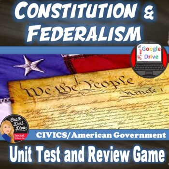 The Constitution and Federalism TEST and REVIEW GAME –Edit