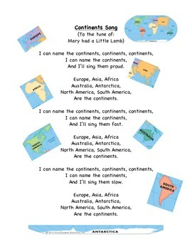 The Continents Song