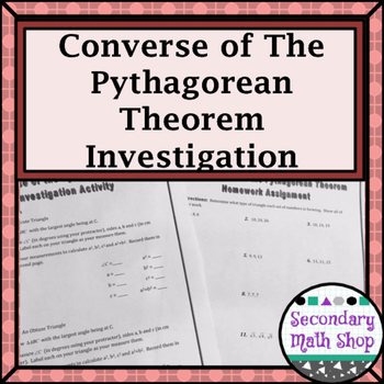 Right Triangles - The Converse of the Pythagorean Theorem