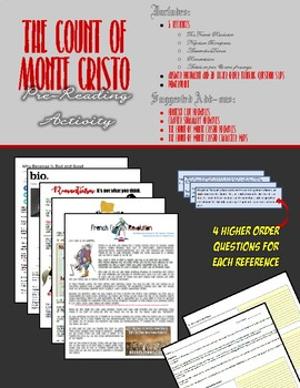 The Count of Monte Cristo - Pre-reading Cooperative Group