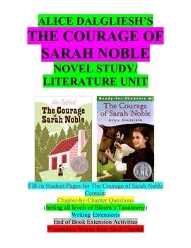 The Courage of Sarah Noble Literature Unit/Novel Study/Gui