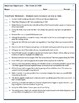 The Crash of 1929 Worksheets / The Crash of 1929 Test