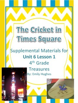 The Cricket in Times Square Vocabulary & Spelling Activiti