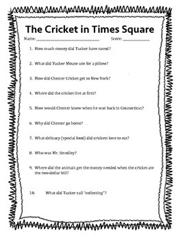 The Cricket in Times Square questions