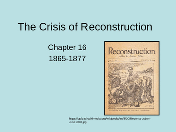 The Crisis of Reconstruction