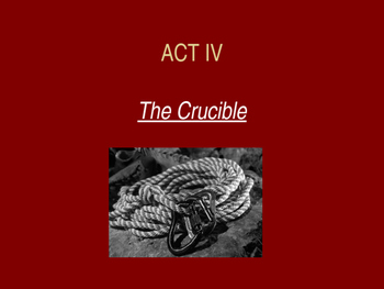 The Crucible Act 4 PowerPoint Review