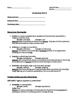 The Crucible Act 1 Vocabulary