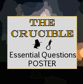 The Crucible Essential Question Poster