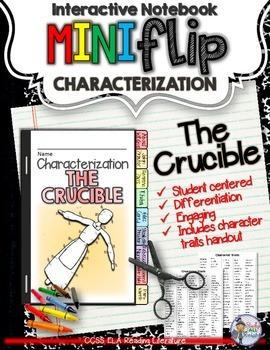 THE CRUCIBLE: INTERACTIVE NOTEBOOK CHARACTERIZATION MINI FLIP