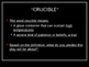 The Crucible - Introduction Powerpoint