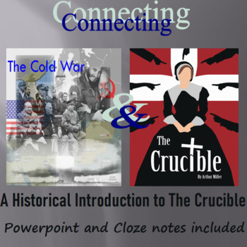 The Crucible, Miller, Allegory, Cold War, & HUAC PowerPoint
