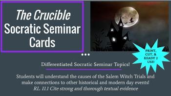 The Crucible Socratic Seminar Topic Cards