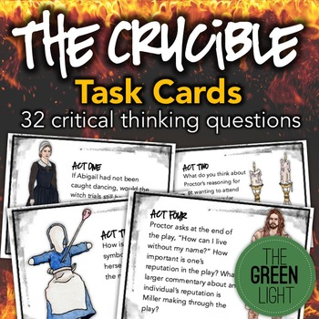 The Crucible Task Cards: Activities, Quizzes, Discussion Q