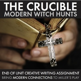 Crucible, Modern Witch Hunts Final Writing Assessment for