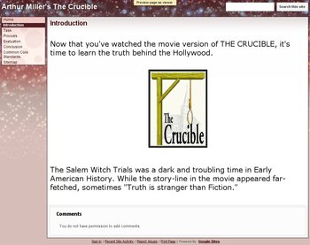 The Crucible Web Quest