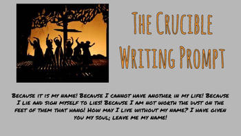 The Crucible Writing Prompt