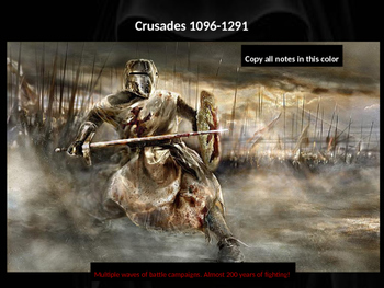 The Crusades PowerPoint Lesson (with assessment activity)
