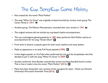 The Cup Game (history and how to)
