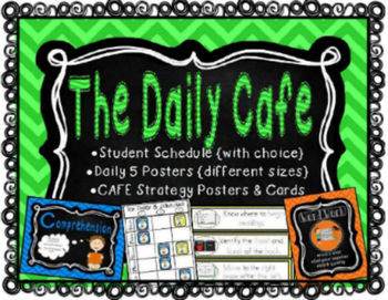 The Daily Cafe Schedules, Posters, and {Kindergarten} Cafe