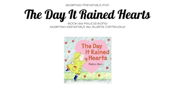 The Day It Rained Hearts: adapted materials