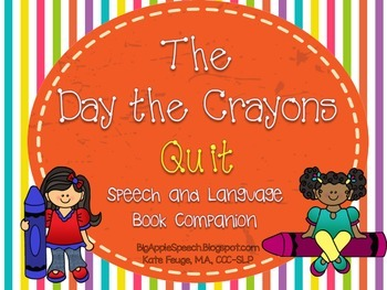 The Day the Crayons Quit Literacy Precursor Activities (Sp