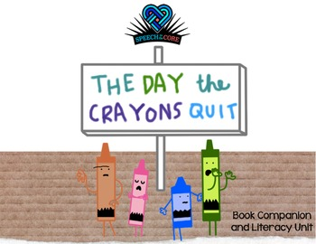 The Day the Crayons Quit Literacy Unit