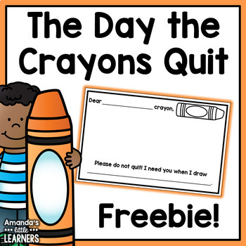 The Day the Crayons Quit Mini Response