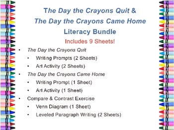 The Day the Crayons Quit & The Day the Crayons Came Home L