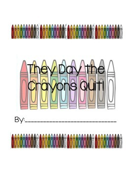 #2017dollardeals The Day the Crayons Quit Writing Activity