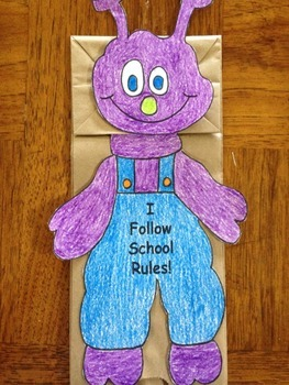 The Day the Monster Came to School Puppet