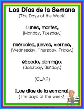 """Spanish - """"Days of the Week"""" - Los Días de la Semana  - So"""