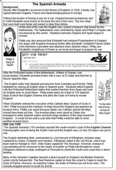 The Defeat of the Spanish Armada Worksheet
